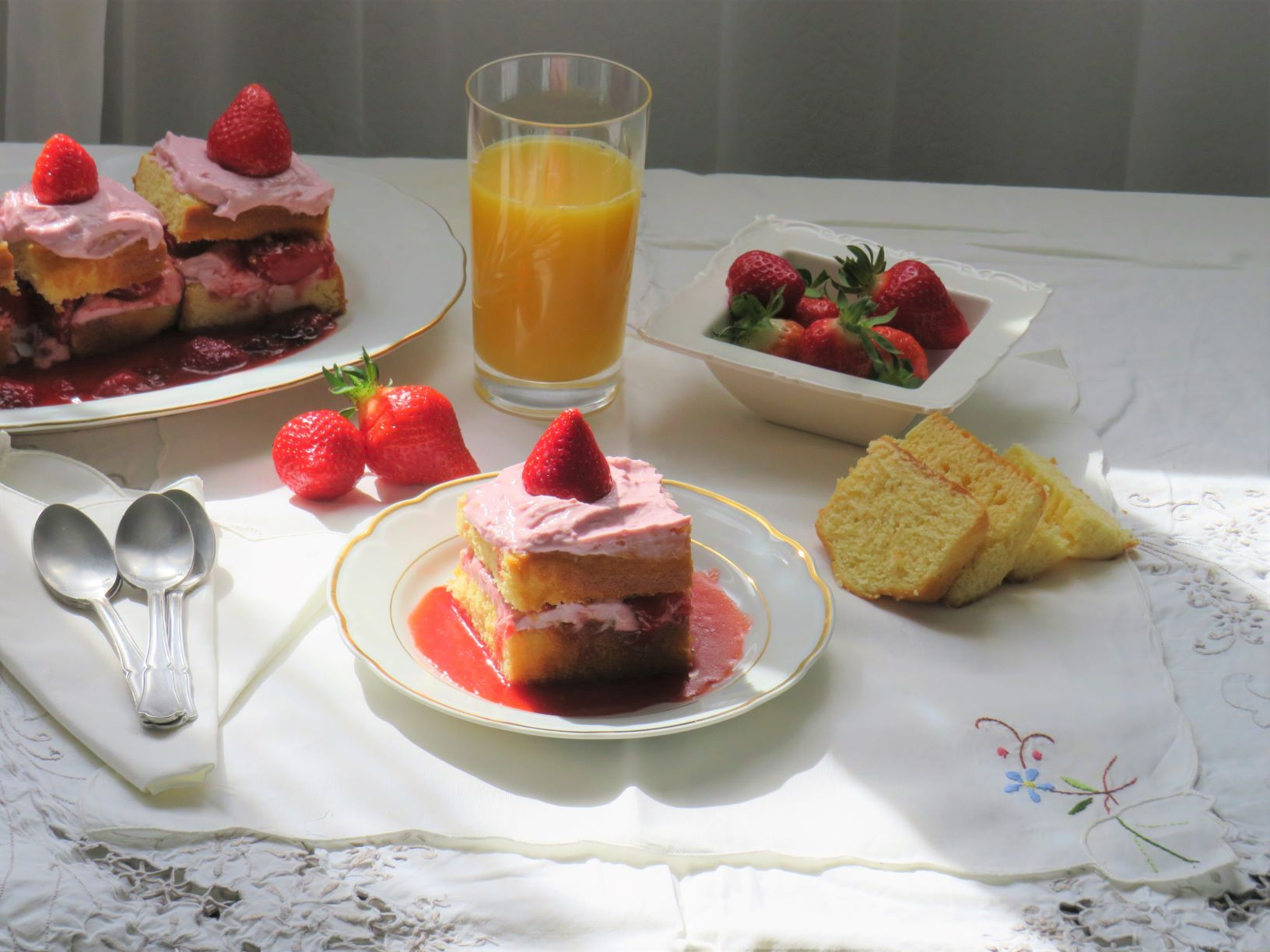 gâteau aux fraises de Touraine